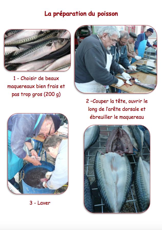 la préparation du poisson